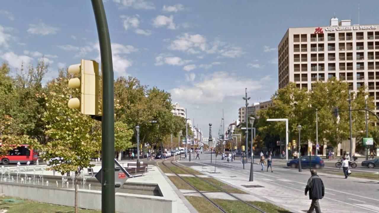 Street map Zaragoza Spain