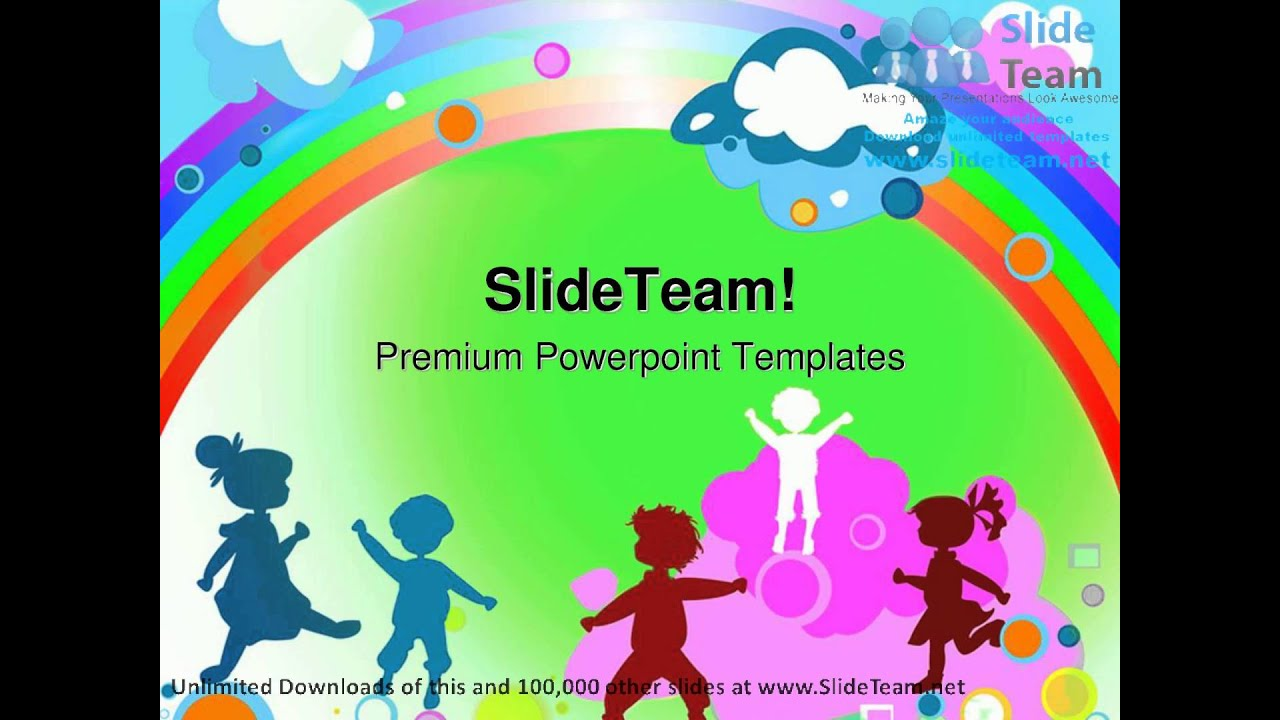 Kids and rainbow entertainment powerpoint templates themes and kids and rainbow entertainment powerpoint templates themes and backgrounds ppt designs youtube toneelgroepblik Images