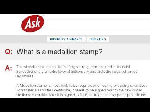 What Is A Signature Guarantee Stamp? - YouTube
