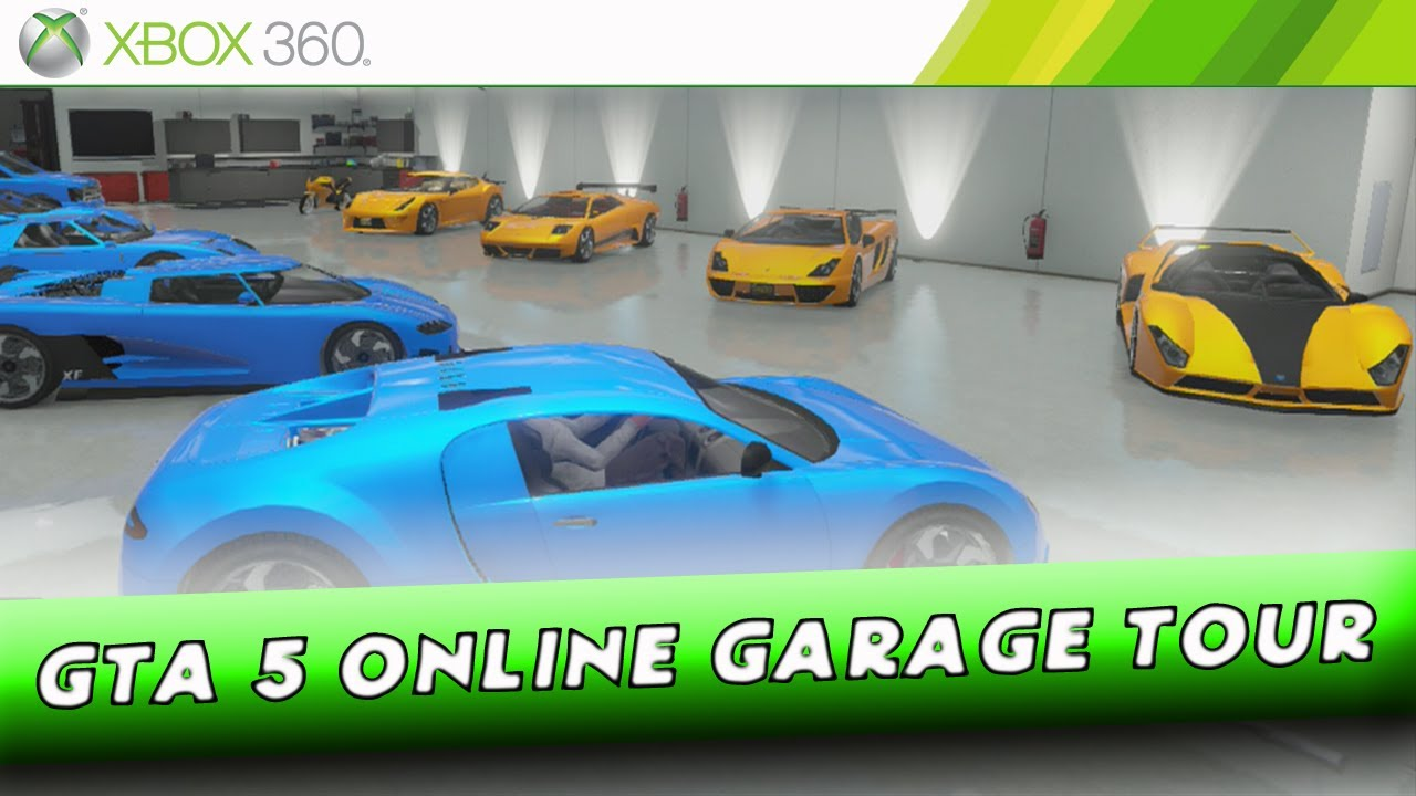 Grand Theft Auto 5 ONLINE - 10 Car Garage Showcase - Including Best
