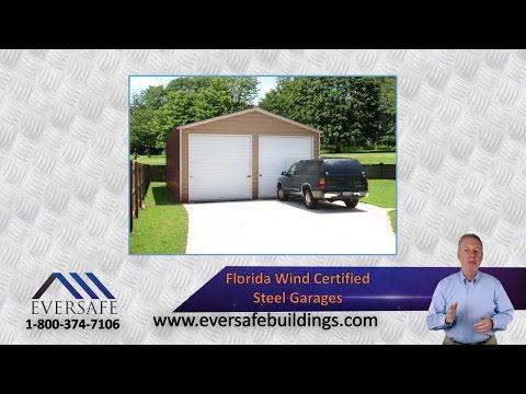 Garage Metal Buildings That Beat Florida Hurricanes by Eversafe Steel Buildings
