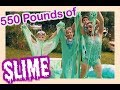 550 POUNDS OF GLITTERY SLIME CHALLENGE  | Flippin' Katie