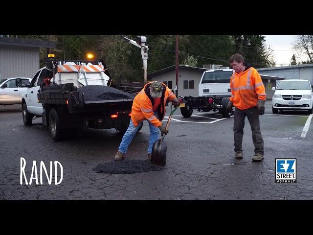Easy, Fast, Permanent Pothole Repair In Rain And Snow? EZ Street Crushes It…
