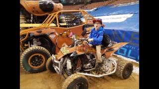 Monster jam Triple Threat pit party  with Dirtbike Logan