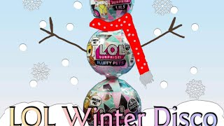 New LOL surprise winter disco fluffy pets and lils