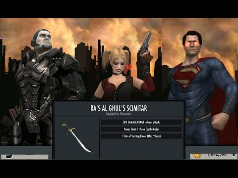 Injustice GAU: (716) MP with MOS Supes/Zod and Ark HQ, showcasing the new gear