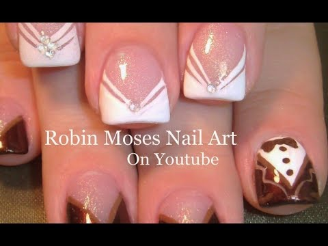 Cutest Wedding Nails Bride And Groom Nail Art Design Ever