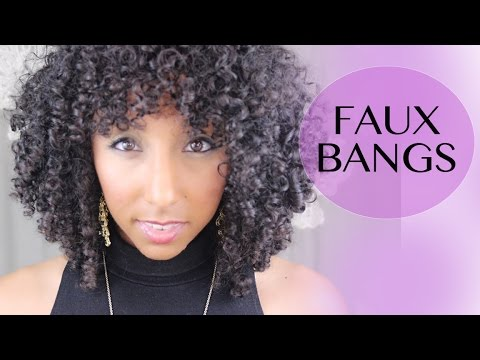 How To Create Faux Bangs For Curly Hair Biancareneetoday Youtube