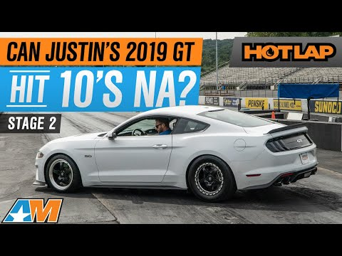 Stage 2 Of Justin's 2019 Mustang GT Build - Can He Hit 10's NA? | Hot Lap