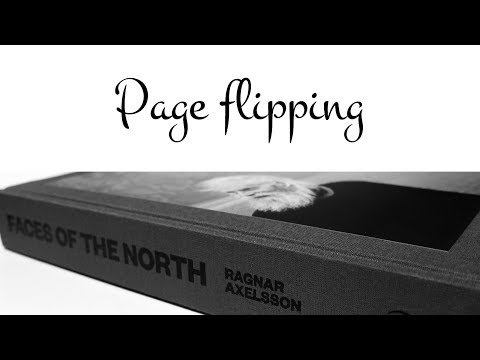 Page flipping; Faces of the North by Ragnar Axelsson