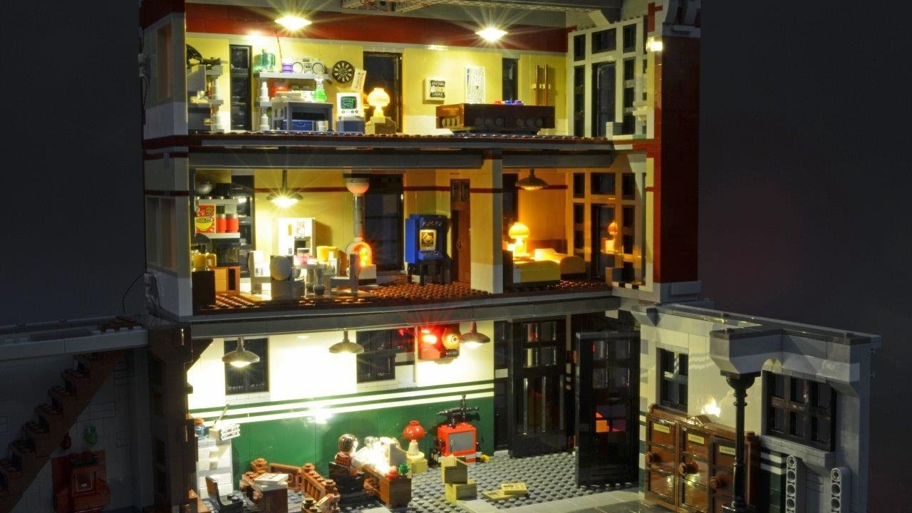 Installing Lights In The Lego Ghostbusters Firehouse Hq Youtube