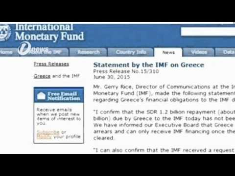 Greece Becomes First Advanced Economy In Arrears To The International Monetary Fund IMF