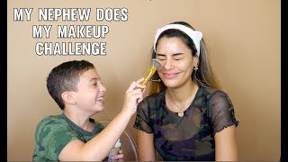 MY LITTLE NEPHEW DOES MY MAKEUP CHALLENGE  #Arilovers  ARIADNA GUTIÉRREZ