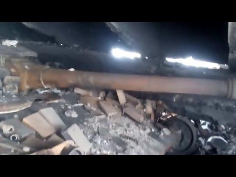 Ukraine War - Russian tank burned in Donetsk Ukraine