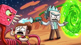 Minecraft - RICK AND MORTY MOD! (MeeSeeks & Portal Gun)
