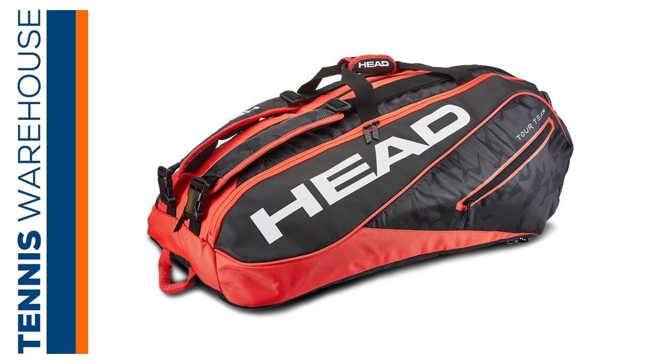 Head Tennis Bag >> Head Tour Team 12 Pack Tennis Bag Youtube