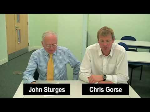 Sustainability Series: WATER DESALINATION. Session 2 - Chris Gorse & John Sturges