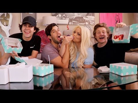 WEDDING CAKE MONDAY MUKBANG FT Trisha Paytas, David Dobrik and Jason Nash!
