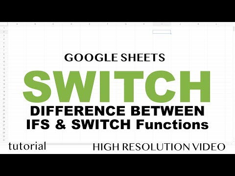 SWITCH Function (Multiple IF Conditions, IFS Function) - Google Sheets - Similar In Excel