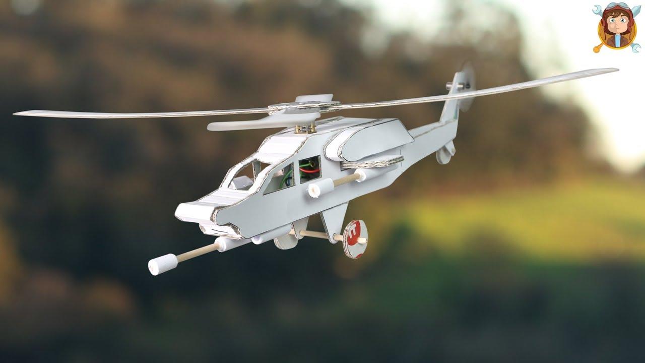 Como Hacer Un Helicóptero Eléctrico Casero De Carton Youtube