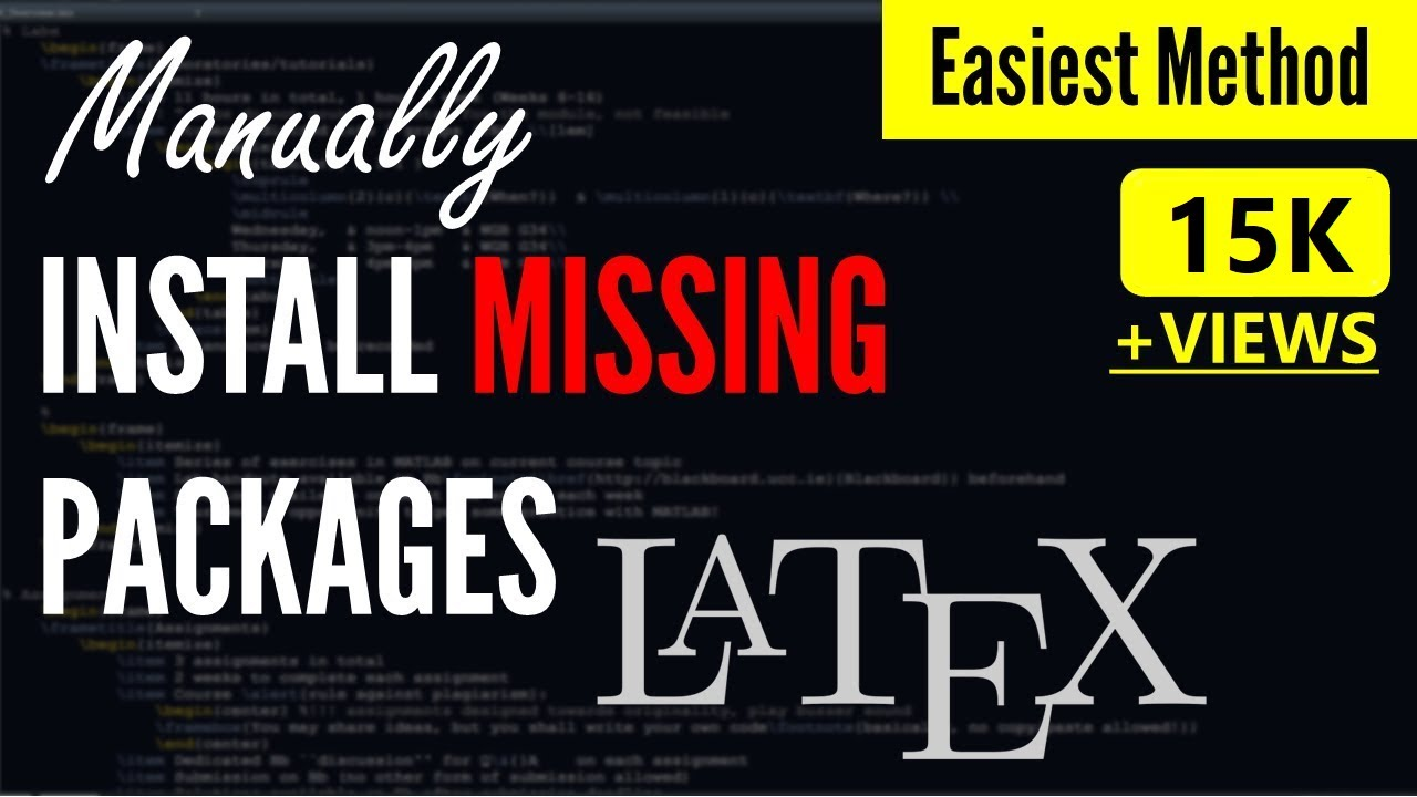 How to Manually Install Missing Packages in Latex [SOLVED] | Latex Missing Package Miktex Win 7,8,10