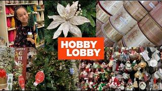 🎄SHOP WITH ME HOBBY LOBBY CHRISTMAS DECOR 2019🎄
