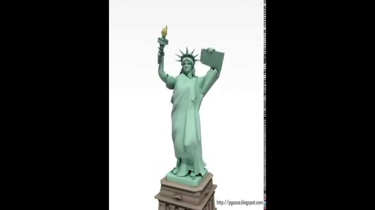 dancing statue of liberty w music youtube