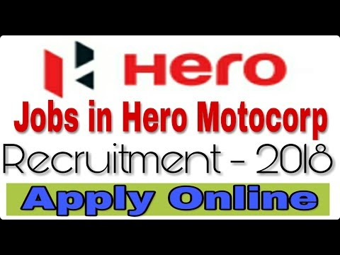 Jobs in Hero Motocorp II How to Apply Online II Private job 2018 II Learn Technical