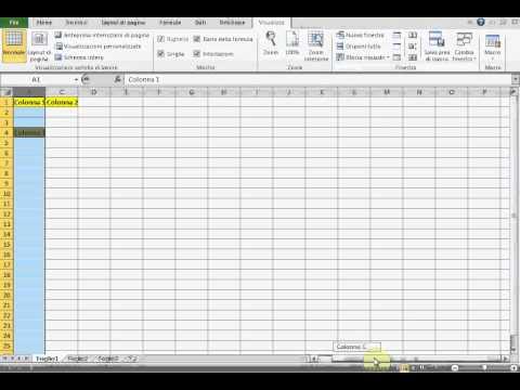Bloccare righe e colonne Excel