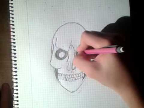 Comment dessiner une tete de mort youtube - Dessiner une tete de mort ...