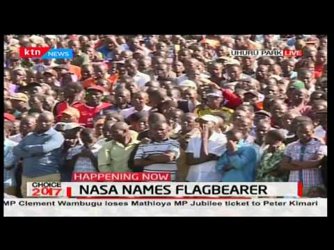 Senator Moses Wetangula's full speech during the unveiling of NASA Flagbearer