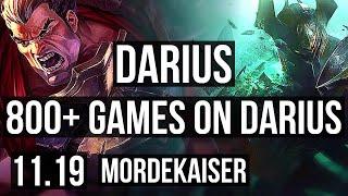 DARIUS vs MORDEKAISER (TOP) | 17/1/4, Quadra, Legendary, 800+ games | EUW Diamond | v11.19