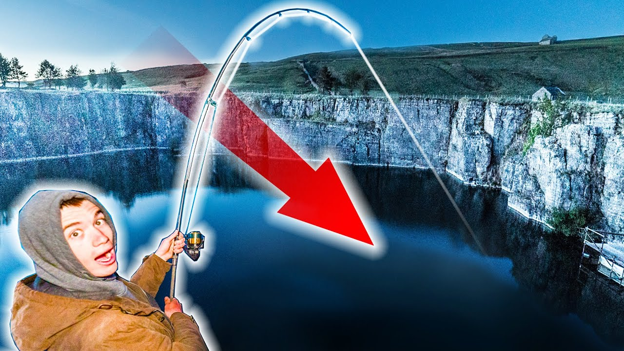 Overnight Fishing at the Abandoned Quarry - Big fish live in these waters!