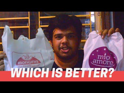 MIO AMORE Vs MONGINIS - Part 1 REVIEW   Veg Patties   Best Kolkata Bakery   Petuk Pilgrim Ep 2
