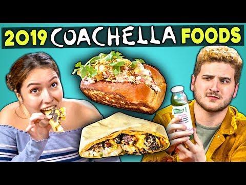Adults Try 2019 VIP Coachella Foods | People Vs. Food