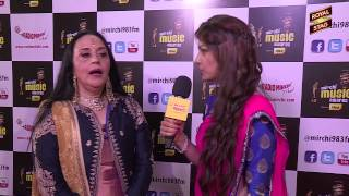Ila Arun in conversation with RJ Yachna at the #MMAWARDS  RED CARPET