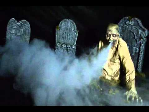 Animated Life Size Gaseous Zombie Fog Blowing Halloween Prop Youtube