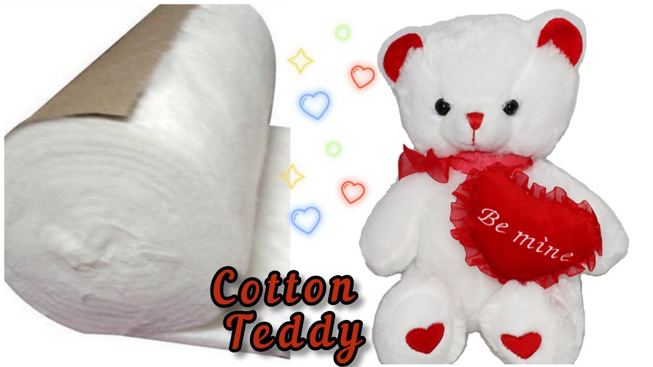 Download 2 minutes Cotton Teddy Bear Making | How to Make Cotton Toy Teddy Bear | Soft Toy Teddy Making
