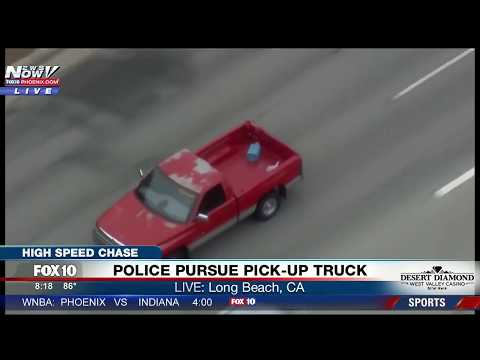 FNN: High-Speed Chase, Police Pursuit of Suspect Wanted for Assault with Deadly Weapon (AK-47)