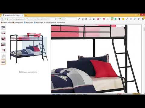 DHP Twin Over Twin, Metal Bunk Bed -  Black Review