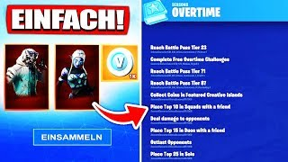 SO YOU're just creating ALL Overtime Challenges! | Fortnite Free Skins Get Rewards