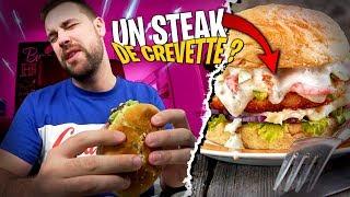 Je goute pour la première fois un Burger au Steak de crevette !