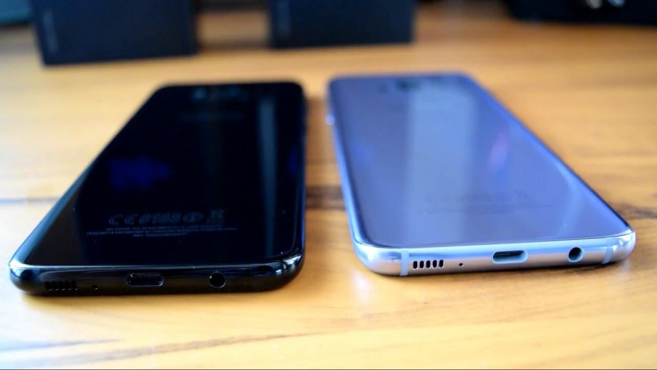 Samsung Galaxy S8 S8 Plus Midnight Black Vs Orchid Gray Color