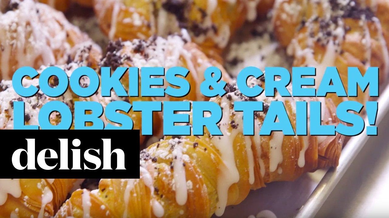 Cake Boss Cookies & Cream Lobster Tails | Delish - YouTube