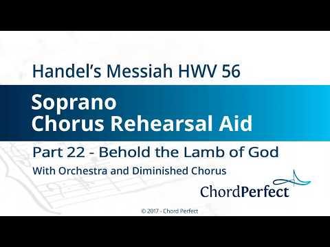 Handel's Messiah Part 22 - Behold the Lamb of God - Soprano Chorus Rehearsal Aid