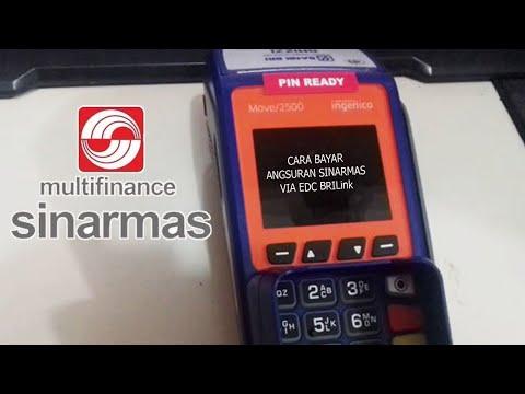 Cara Bayar Angsuran SINARMAS via EDC BRILink