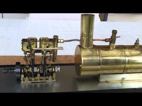 Saito model steam marine engine setup 斉藤モデルの蒸気機関