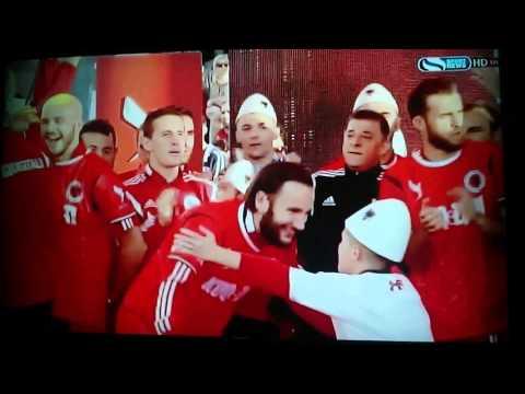 Albania celebrating Euro 2016 qualification