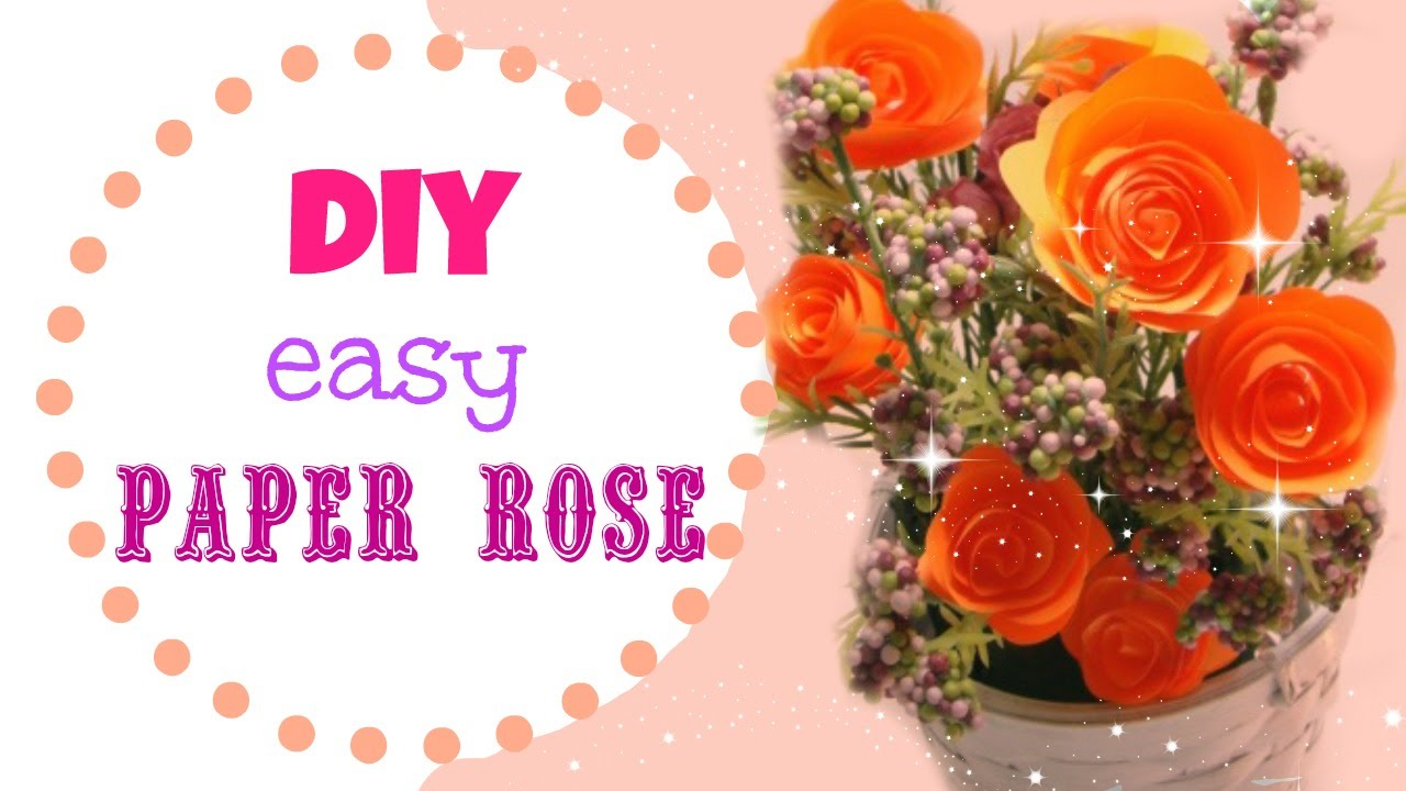how to make easy construction paper roses