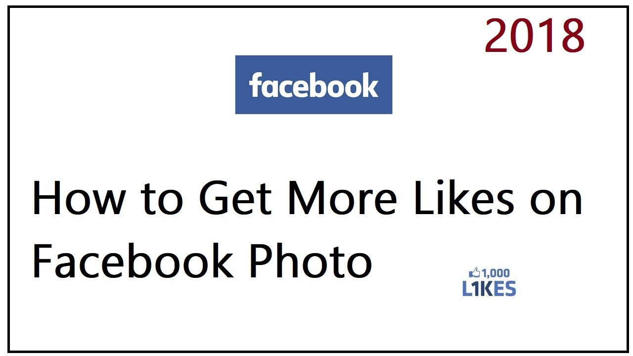 How to Get More Likes on Facebook Photo - YouTube